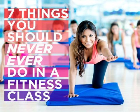 7 Things You Should Never Ever Do in a Fitness Class