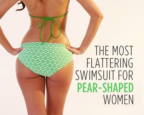 b2d8ae4d274ad The Most Flattering Swimsuit for Pear-Shaped Women