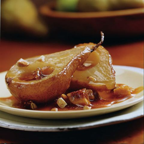 Roasted Pears with Orange-Caramel Sauce