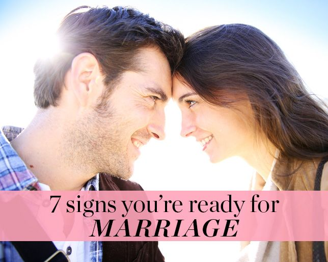 How to know that you are ready for marriage
