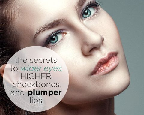 The Secrets to Wide Eyes, High Cheekbones, and Plump Lips