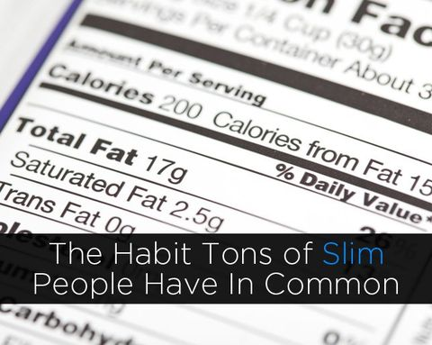 The Habit Tons of Slim People Have In Common