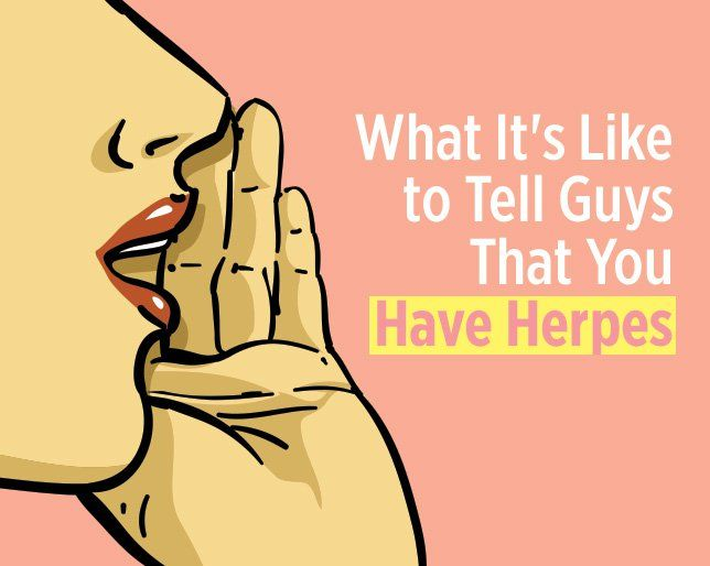 How do you tell someone you have genital herpes
