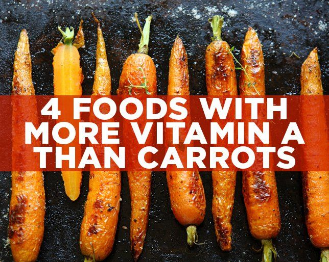 4 Foods with More Vitamin A than Carrots