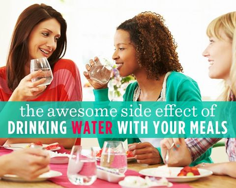 The Awesome Side Effect of Drinking Water with Your Meals
