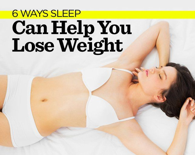 6 Ways Sleep Can Help You Lose Weight