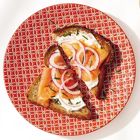 Breakfast idea: smoked salmon toast