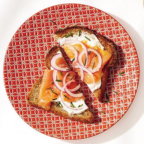 Breakfast Idea Smoked Salmon Toast
