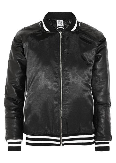 #9: Zoe Karssen Leather Bomber Jacket
