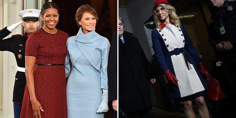 inauguration 2017 fashion melania trump kellyanne conway michelle obama