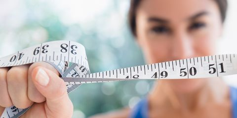 Measuring tape or scale for weight loss