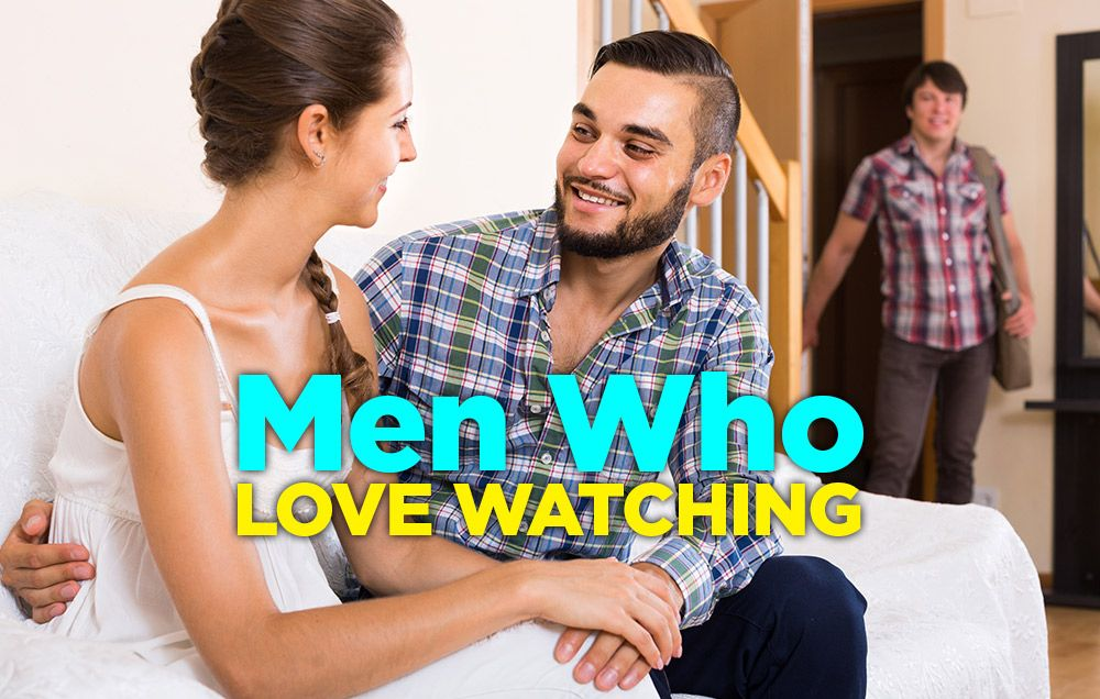 Husband Watching Wife With Another Man