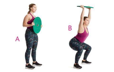 weight plate routine  women's health
