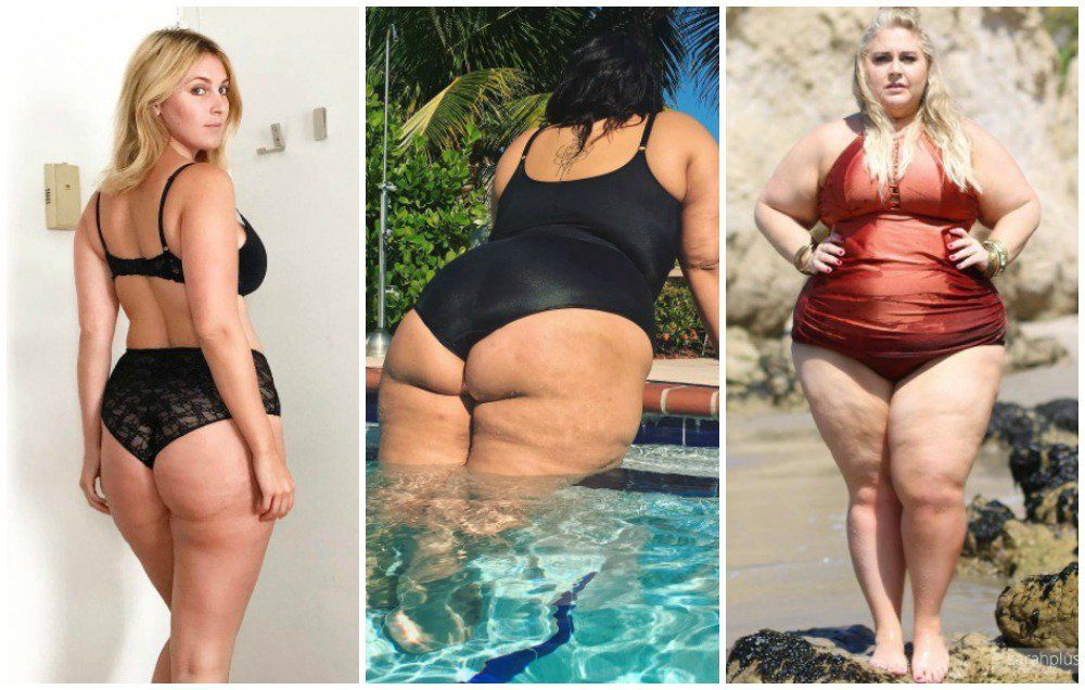 Mature women with cellulite