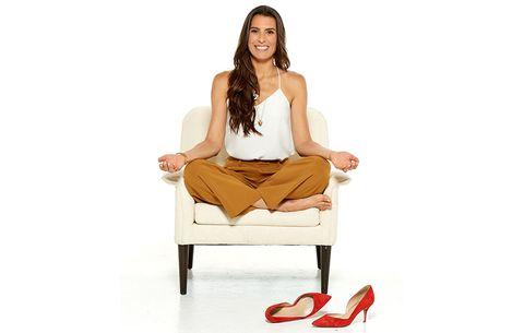 Yoga instructor Rebecca Pacheco meditates every morning