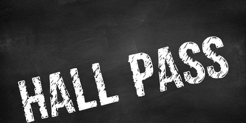 Hall pass for an open relationship