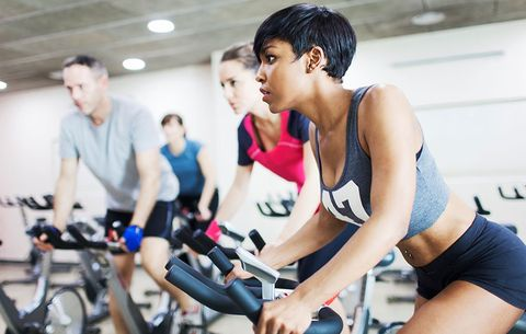 Spin class workout for weight loss