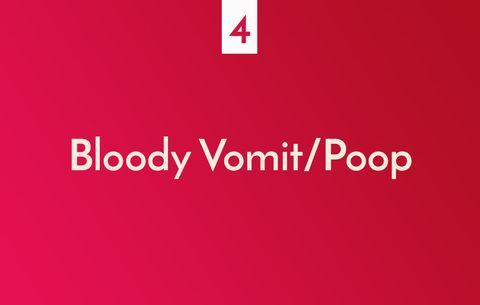 血の混じった嘔吐物/うんち