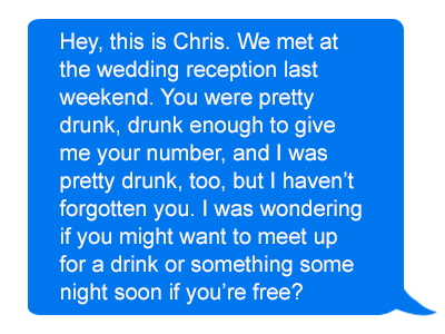 What to text a girl after a drunken hookup