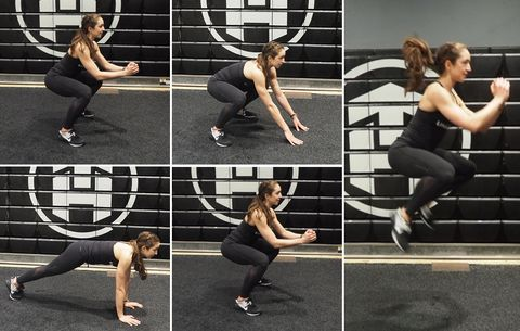 Hip Thrusters with Squat Jump