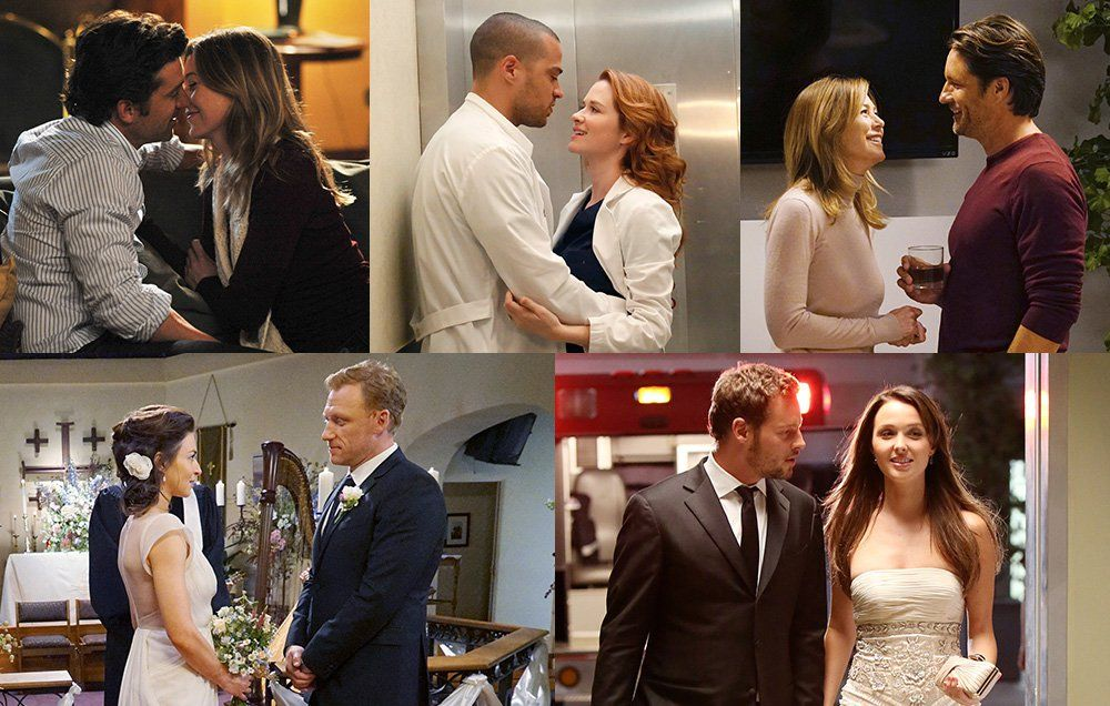 Who is dating who on greys anatomy