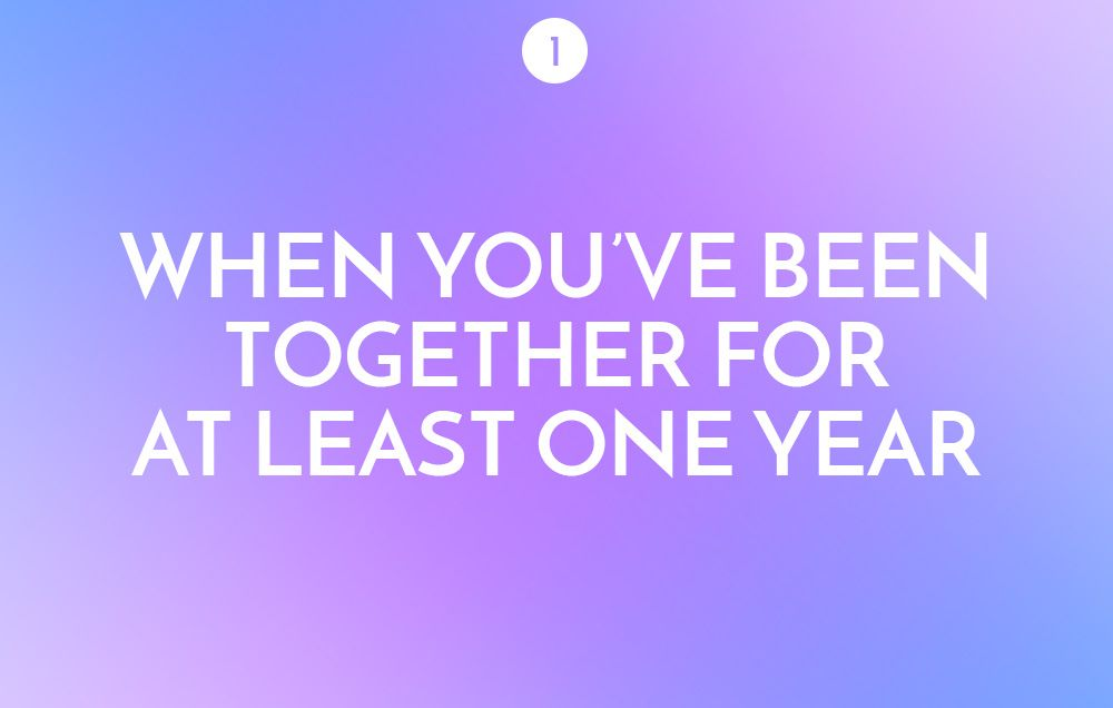How long into dating should you move in together