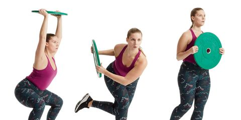 15-minute weight plate workout