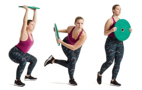 weight plate routine  women's health