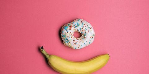 doughnut and banana