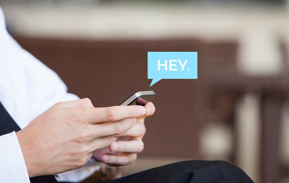 texting an old flame