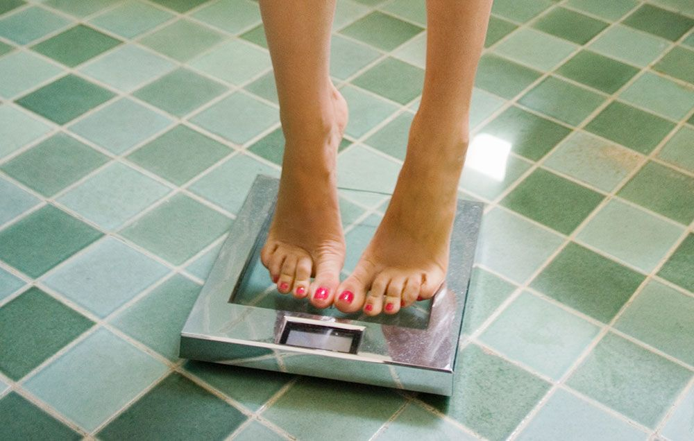 rapid weight loss cold feet