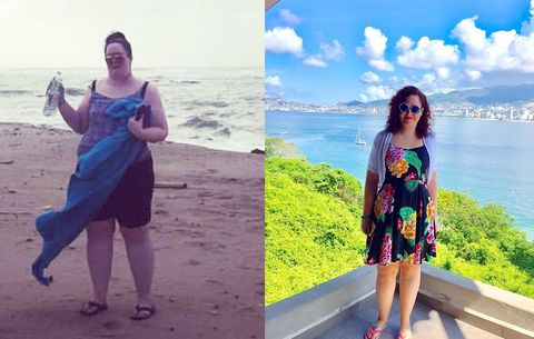 I lost 85 pounds while traveling the worldheres how i did it kelly chase before and after weight loss ccuart Images