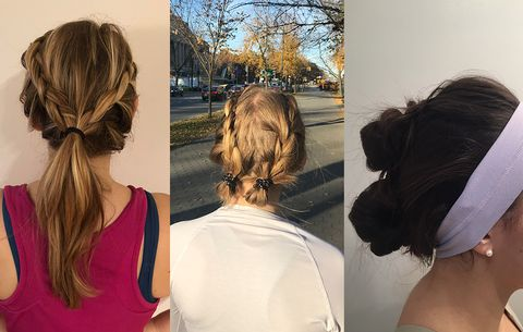 Workout Hairstyles From Pinterest Womens Health