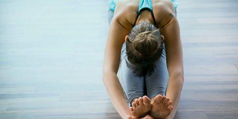 Post workout yoga cooldown