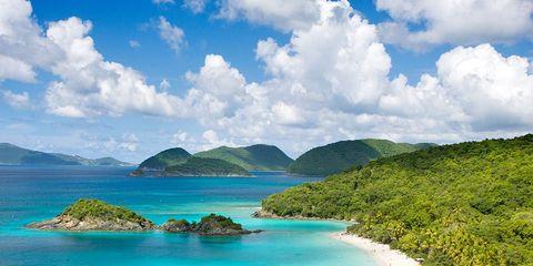 Body of water, Nature, Coastal and oceanic landforms, Natural landscape, Cloud, Coast, Landscape, Island, Promontory, Aqua,