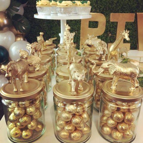 kids goody bag ideas gold chocolate balls