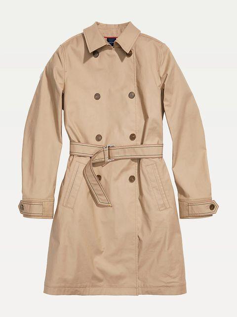 gabardina trench beige camel marron tendencia abrigo