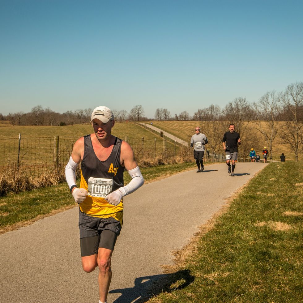 How Pushing His Kids in a Stroller Helped This Man Win 100 Marathons