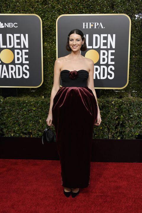 765affdc6b Outlander s Caitriona Balfe s Dress at the 2019 Golden Globes ...
