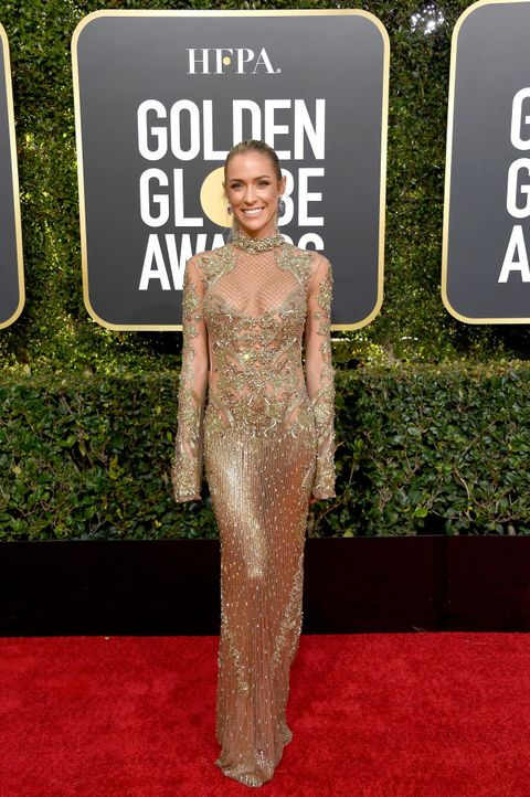 59336a7426 14 Best Nude Dresses from the 2019 Golden Globes Red Carpet