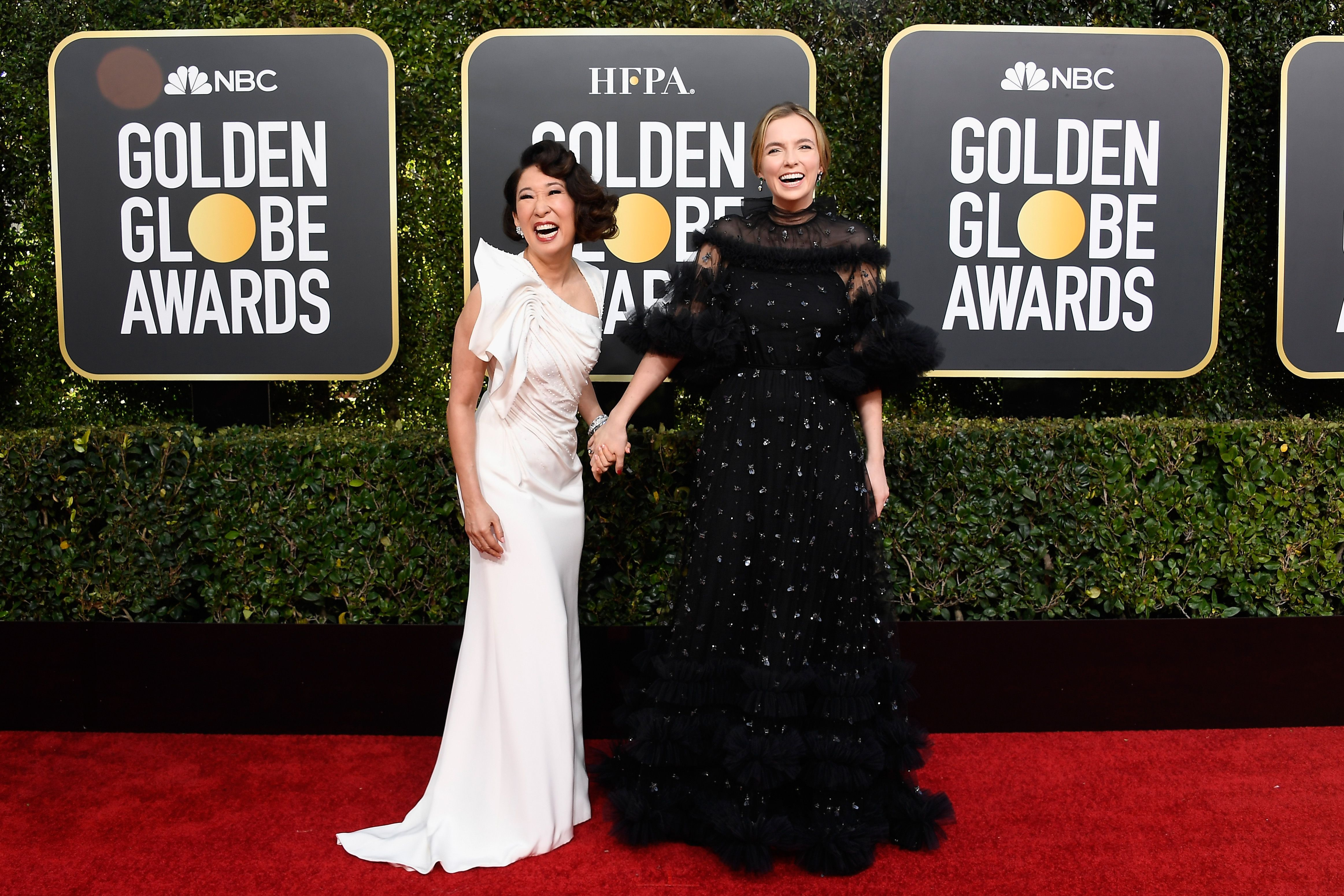 Oh and Comer at the 2019 Golden Globes.