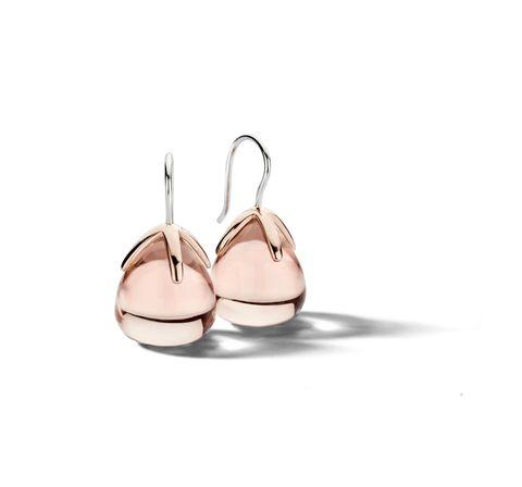 Earrings, Pink, Fashion accessory, Footwear, Metal, Jewellery, Beige, Silver, Copper,