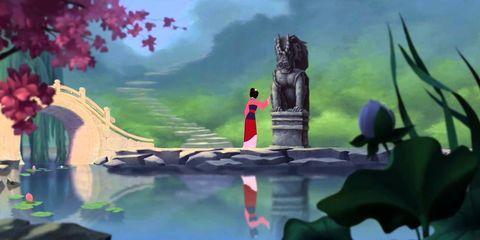 Mulan cantando Mi Reflejo
