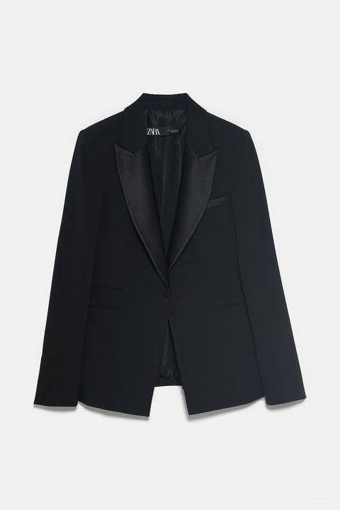 Clothing, Outerwear, Suit, Blazer, Black, Formal wear, Jacket, Sleeve, Collar, Tuxedo,