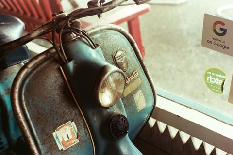 Scooter, Motor vehicle, Vespa, Moped, Vehicle, Vintage car,