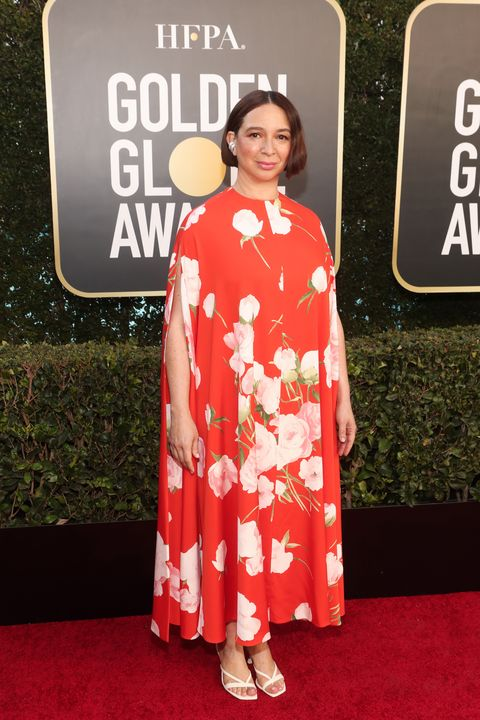 """maya rudolph at nbc's """"78th annual golden globe awards""""   red carpet arrivals"""