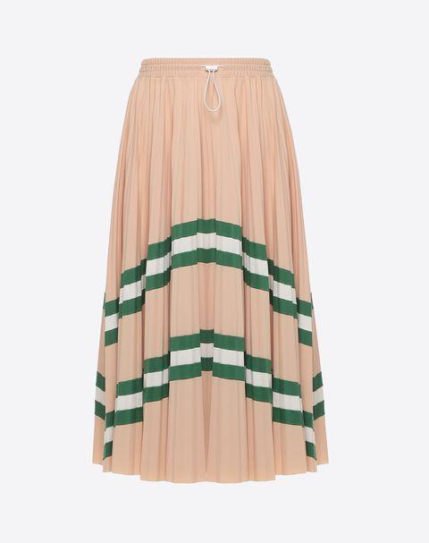 Clothing, A-line, Beige, Fashion, Waist, Pattern, Plaid, Peach,