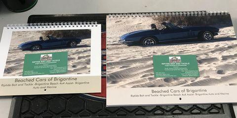 Cars Stuck in Sand on Jersey Shore Beach Become Calendar Pinups