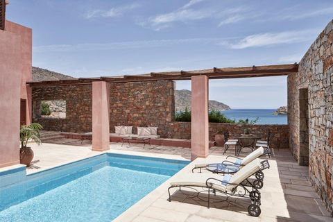 the blue palace, the grand villa, crete