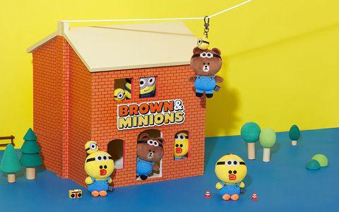 「line friends、小小兵」跨界聯名,玩偶、托特包、airpods殼限量開賣